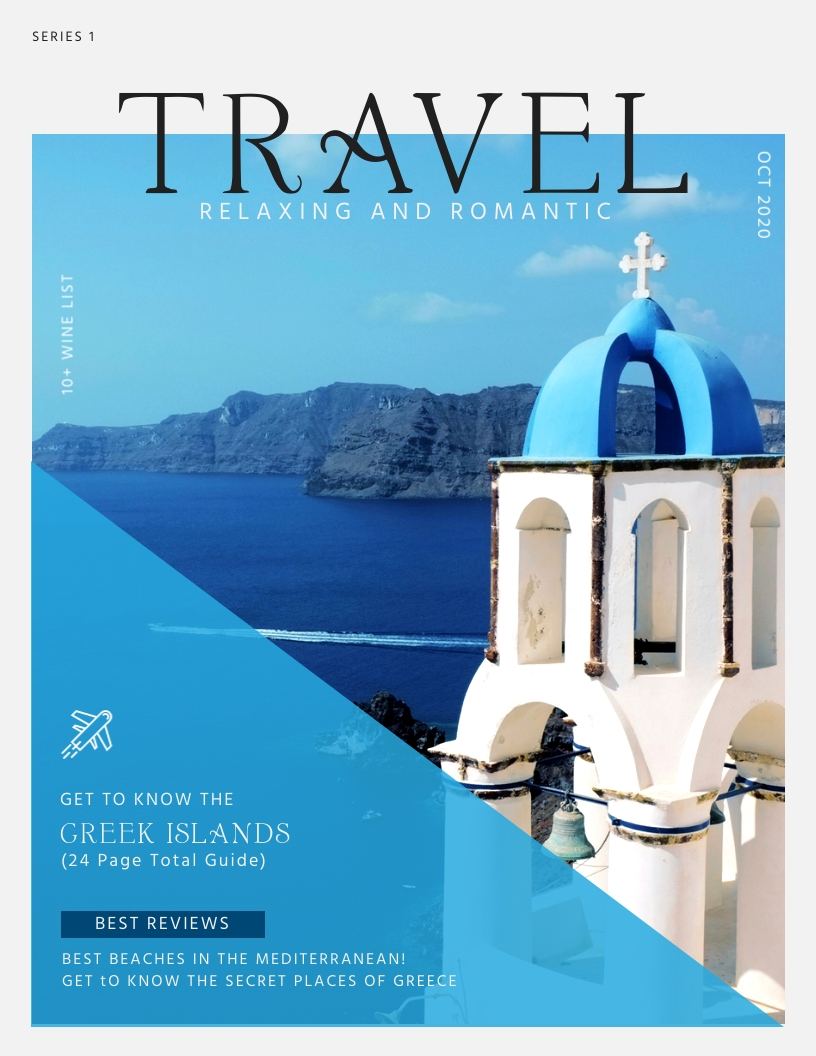 Travel - Magazine Cover Template