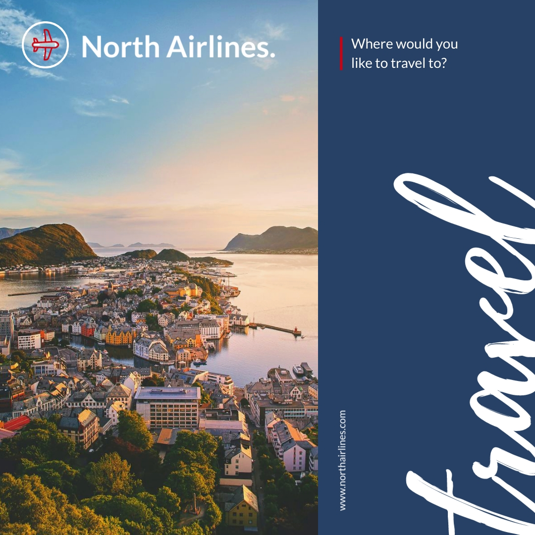 Travel North Airlines Animated Square Template