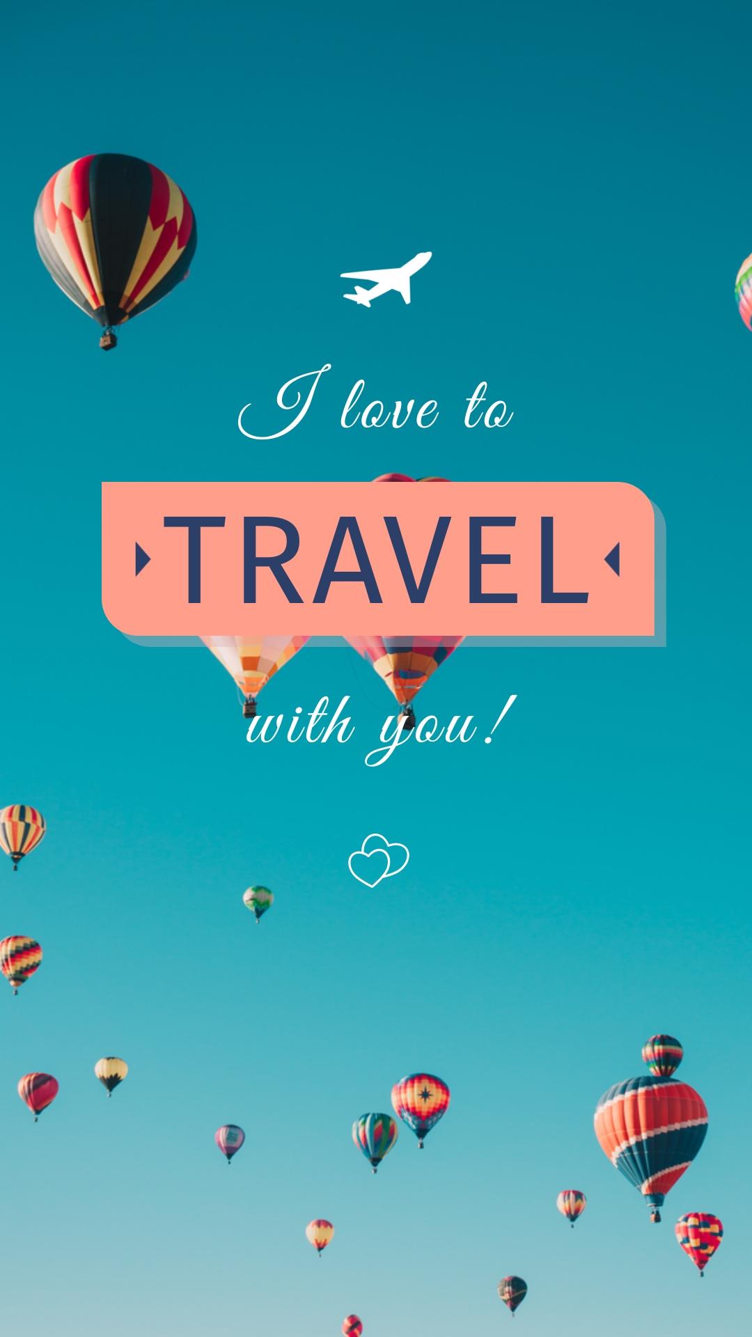 Travel Phone Wallpaper Template