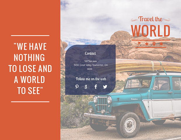 Travel the World - Trifold Brochure  Template