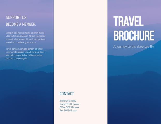 Travel To Deep Sea Life Trifold Brochure Template Visme