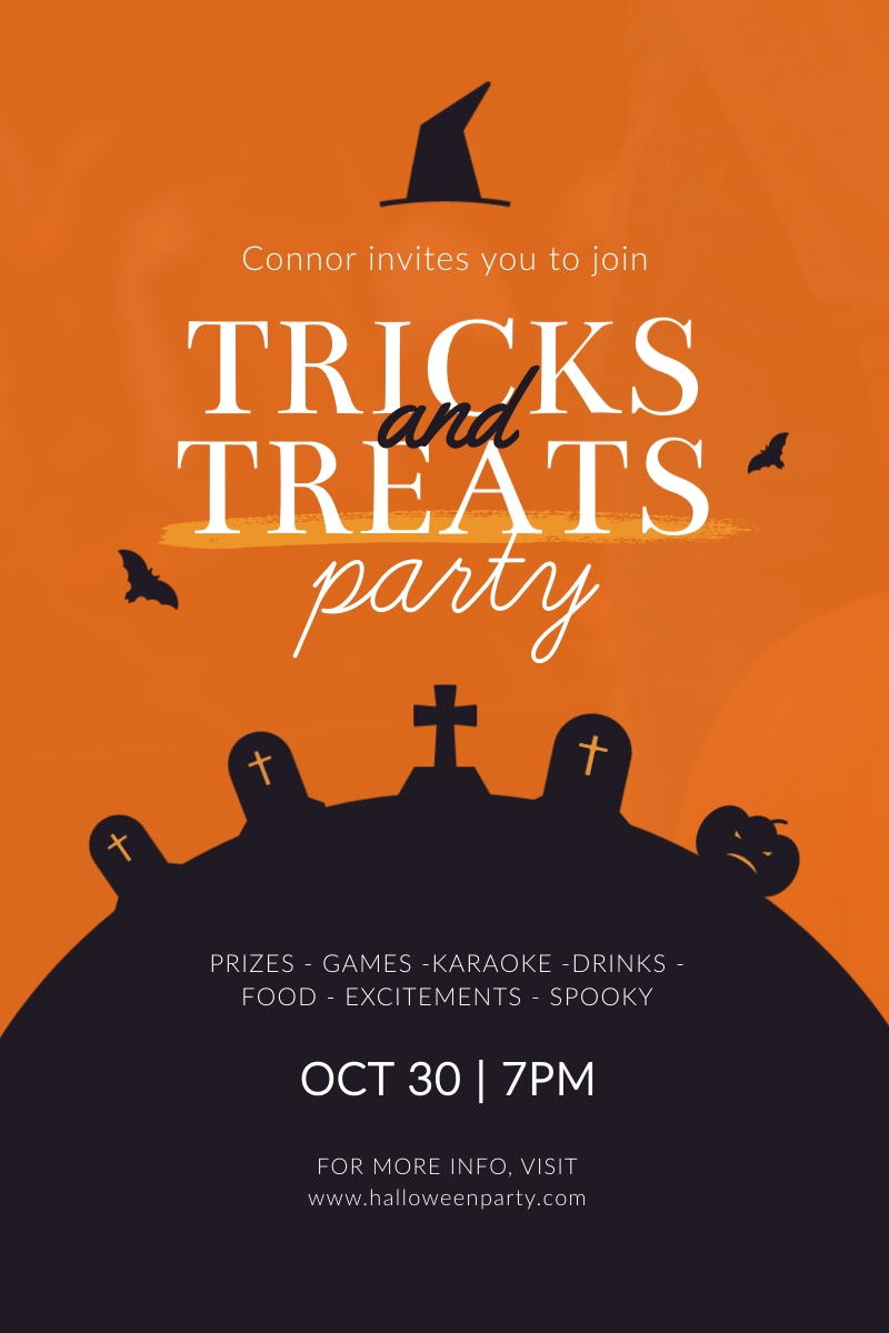 Tricks and Treats Party Blog Graphic Large Template