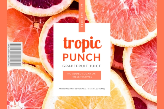 Tropic Punch Label Template
