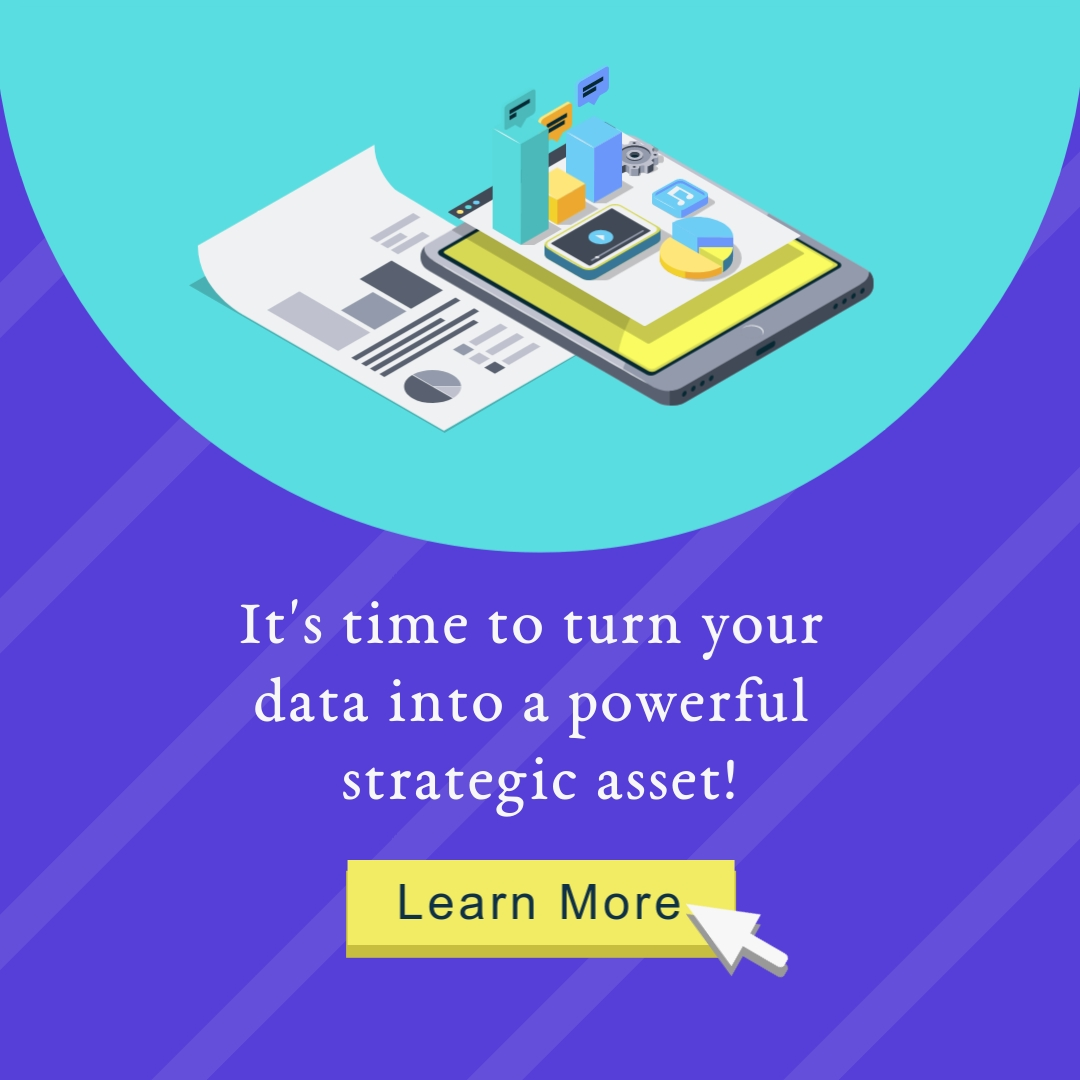 Turn Data into a Powerful Strategic Asset Square Template