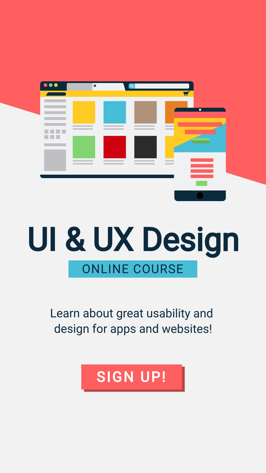UI and UX Design Vertical Template