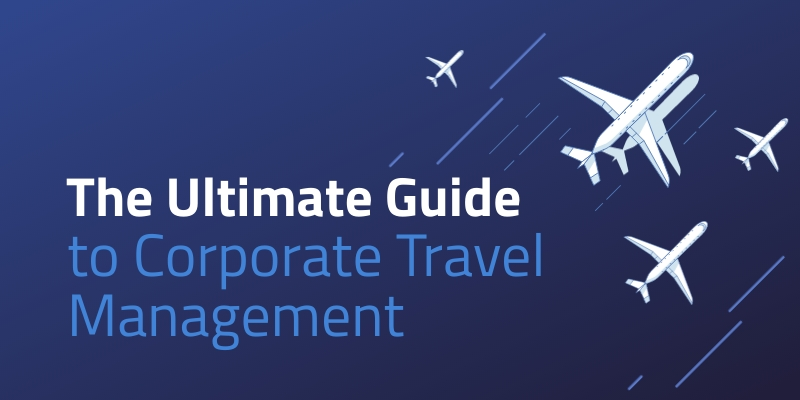 Ultimate Guide to Corporate Travel Blog Graphic Header Template