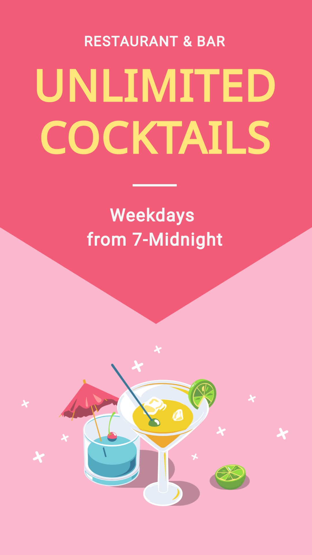 Unlimited Cocktails Vertical Template