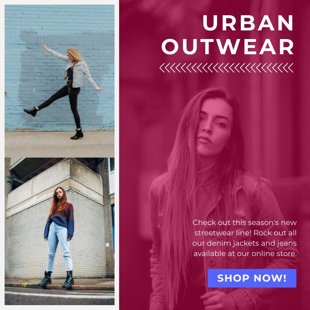 Urban Outwear Fashion Store - Instagram Post Template