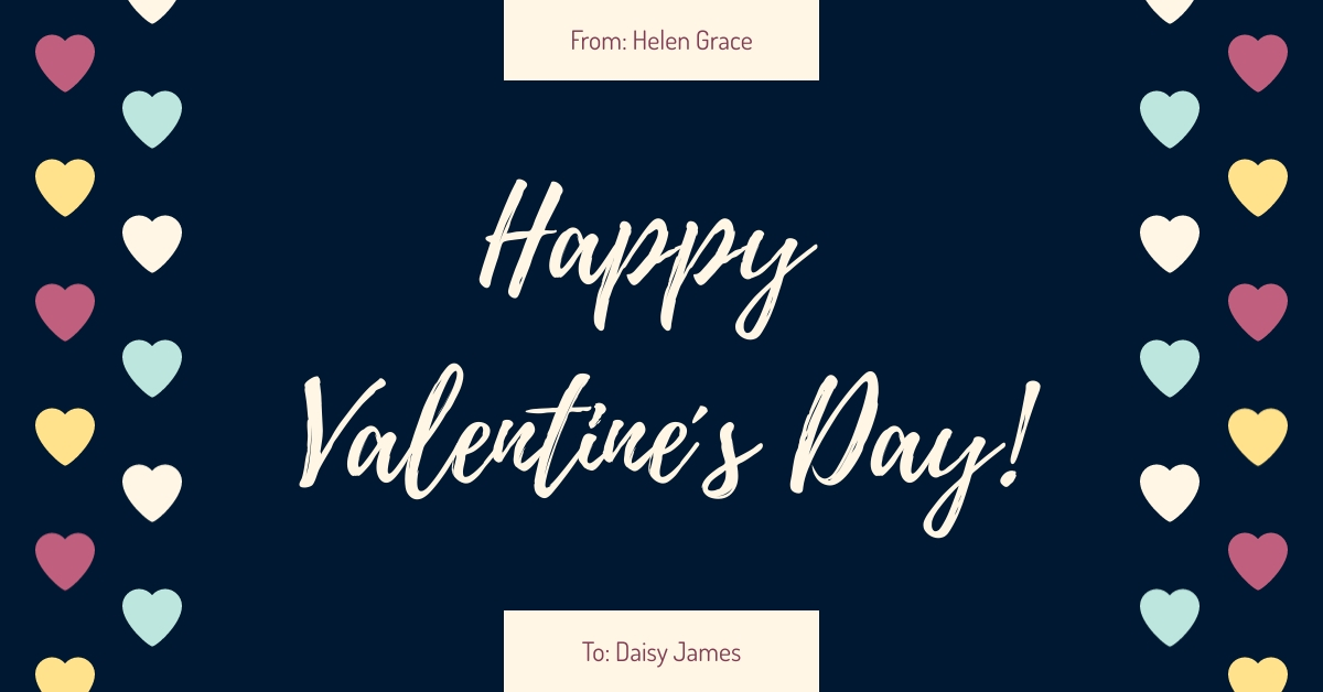 Valentines Card Facebook Ad  Template