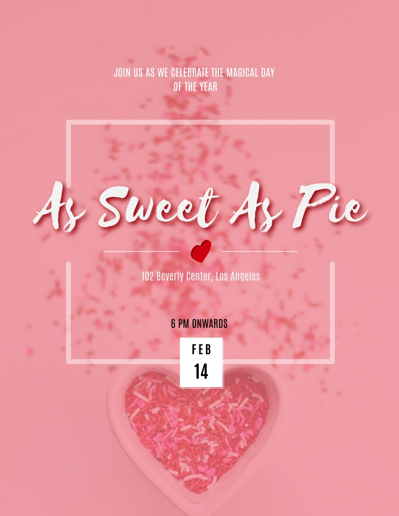 Valentine�s Day Party Flyer Template