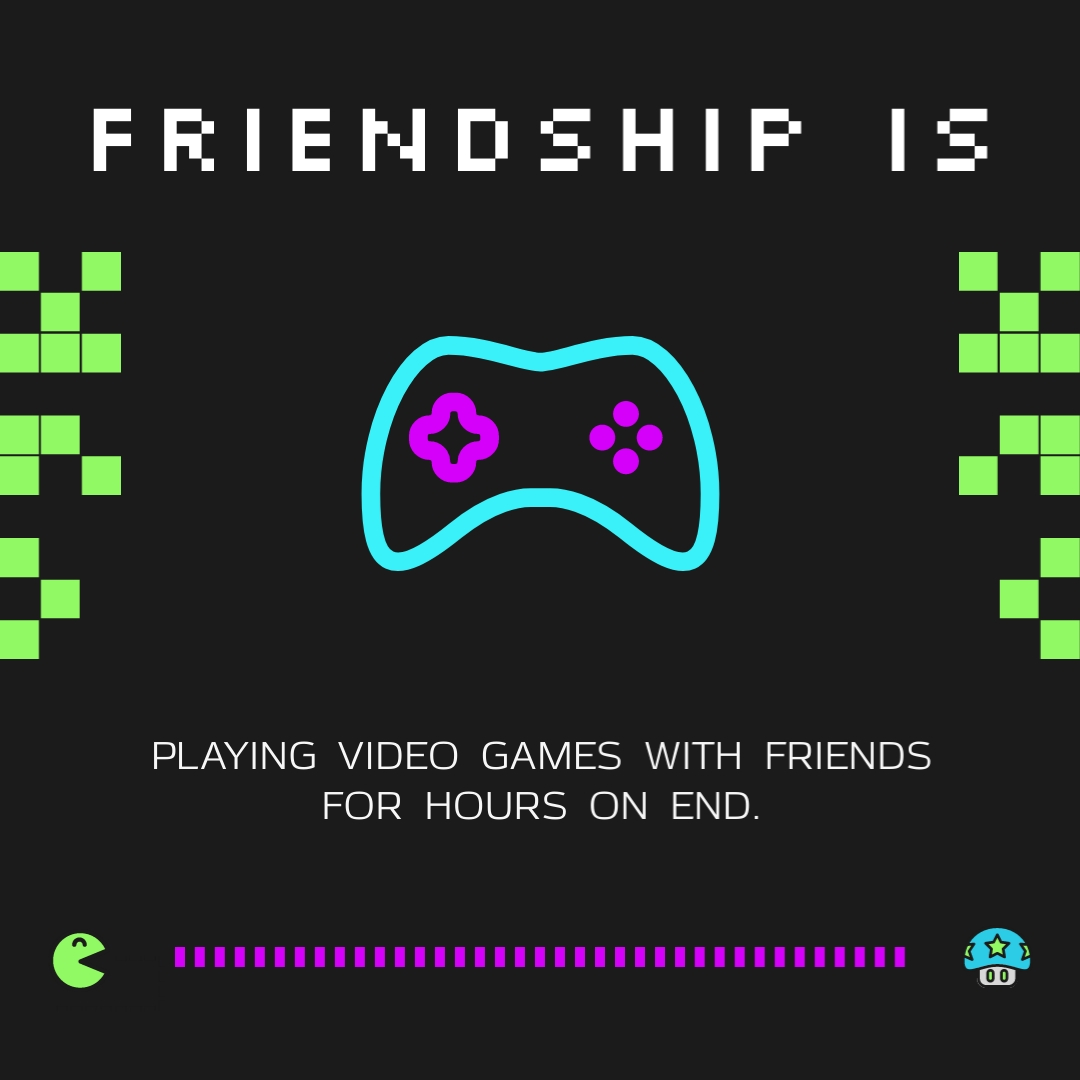 Video Game Friends Animated Square Template Visme