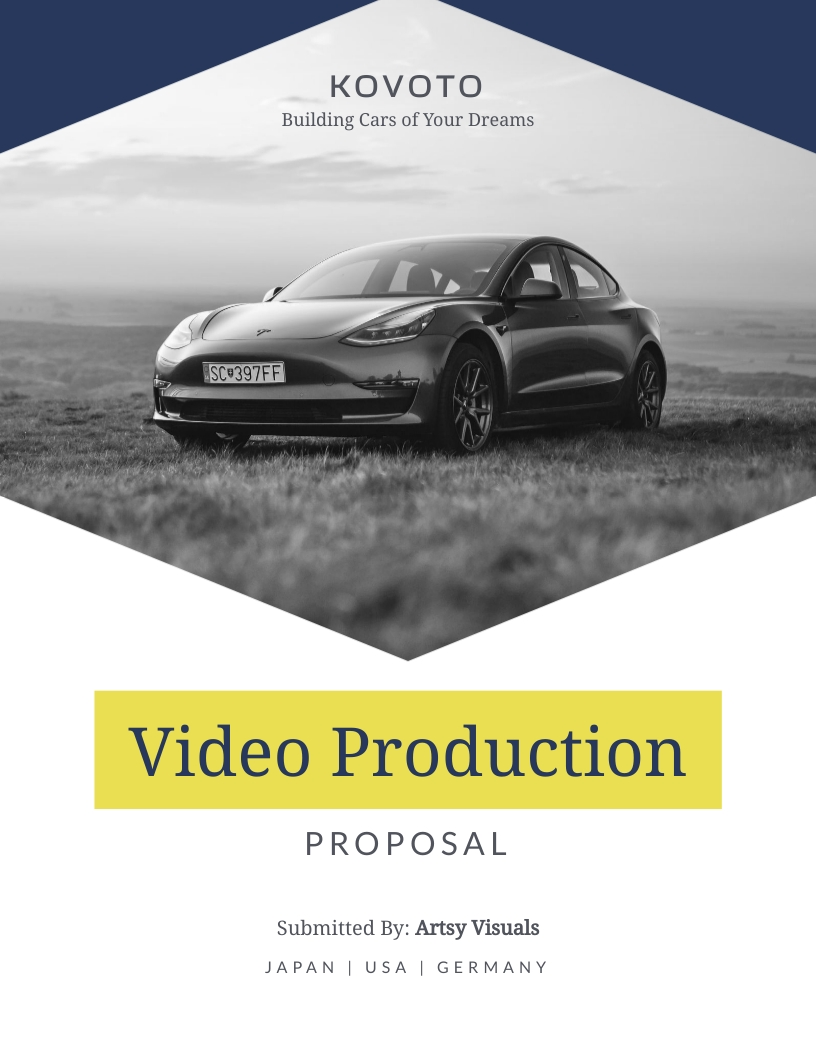 Video Production - Proposal Template