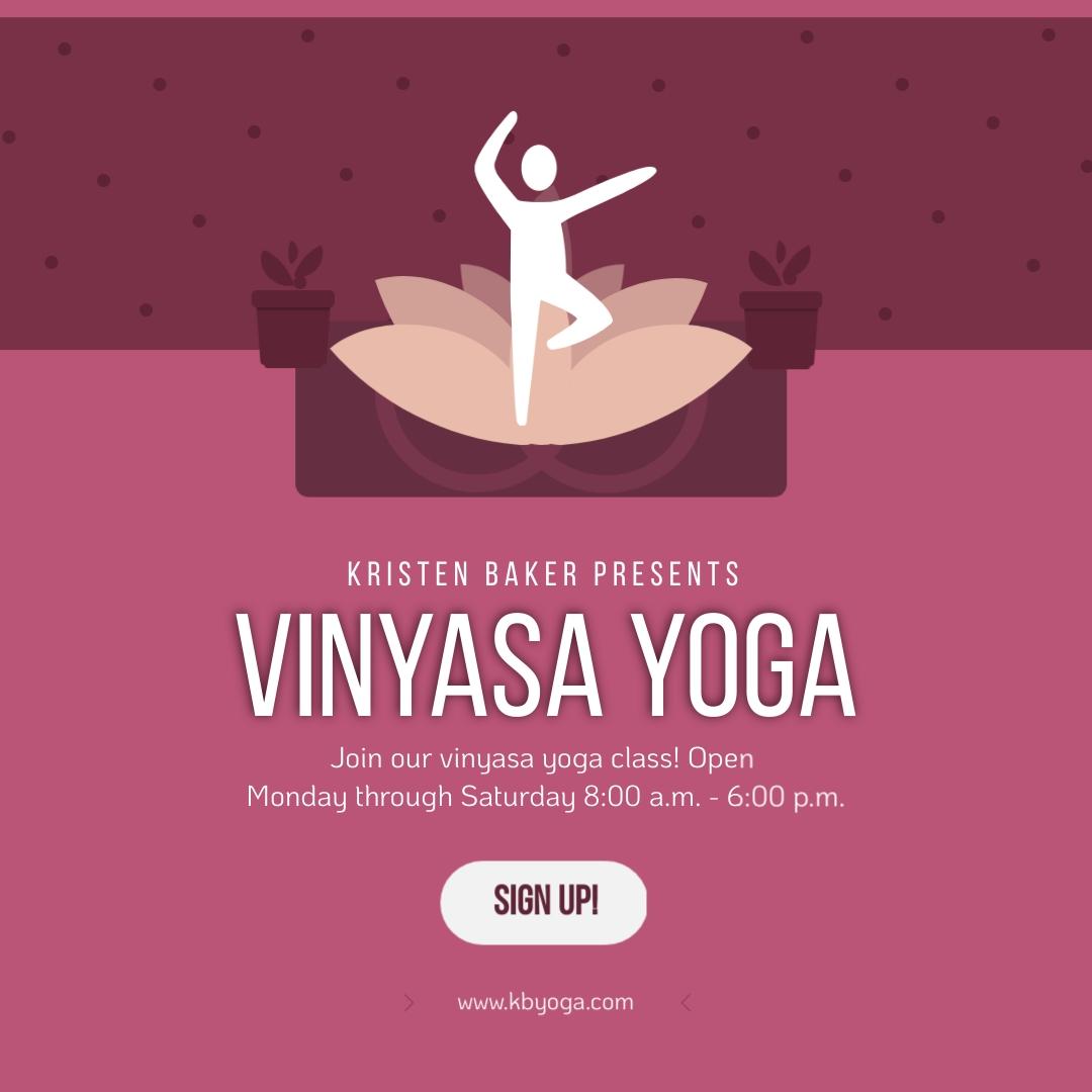 Vinyasa Yoga Square Template