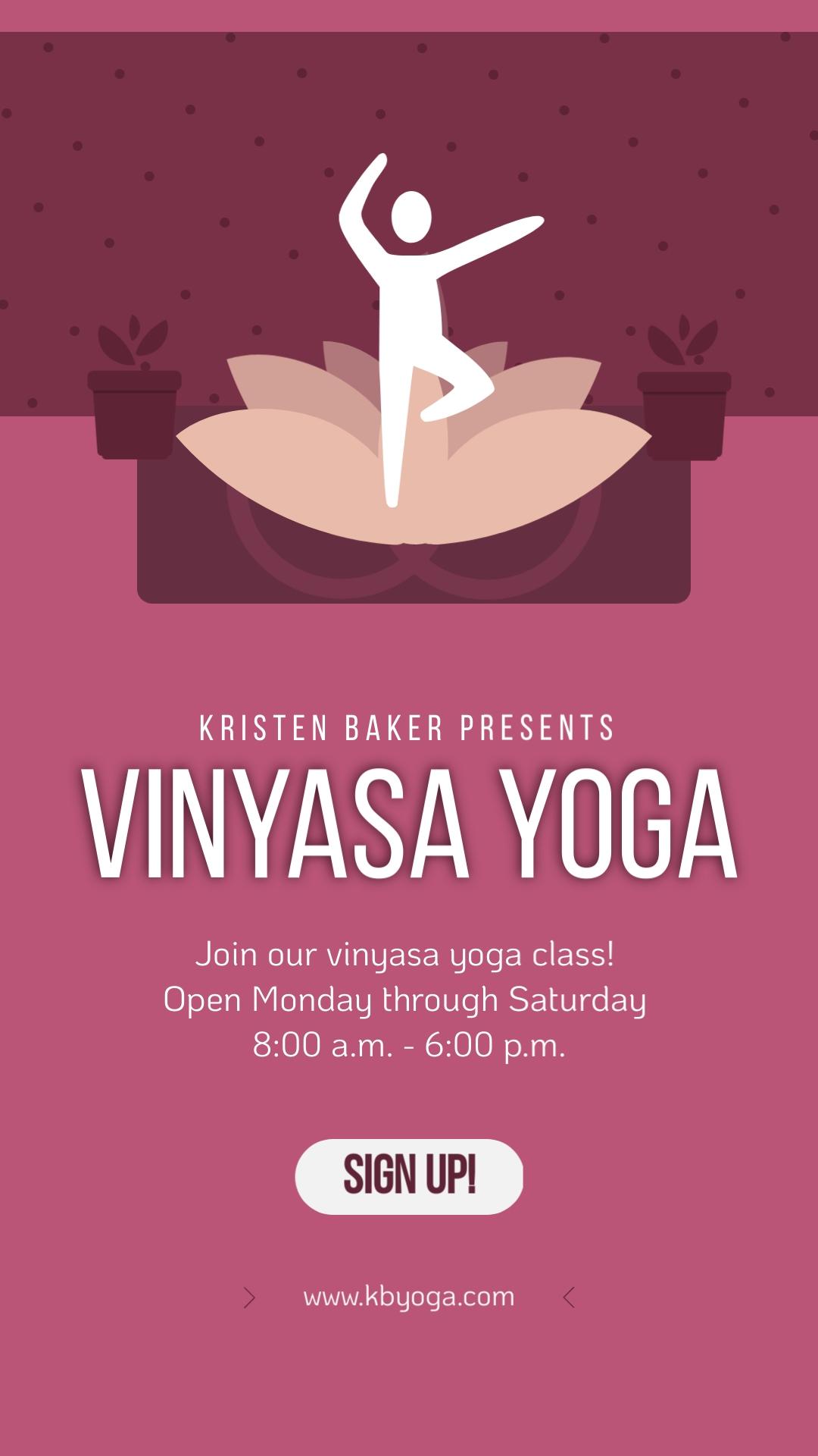 Vinyasa Yoga Vertical Template