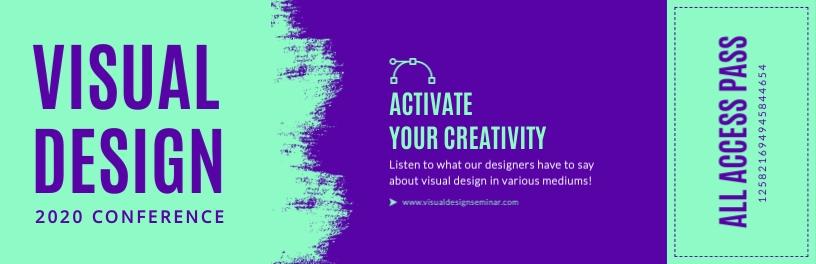 Visual Design Seminar Ticket Template
