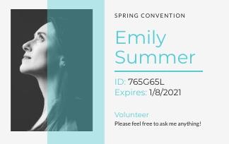 Volunteer - ID Card Template