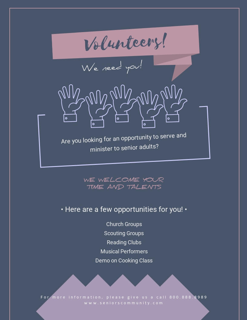 Volunteer - Flyer Template