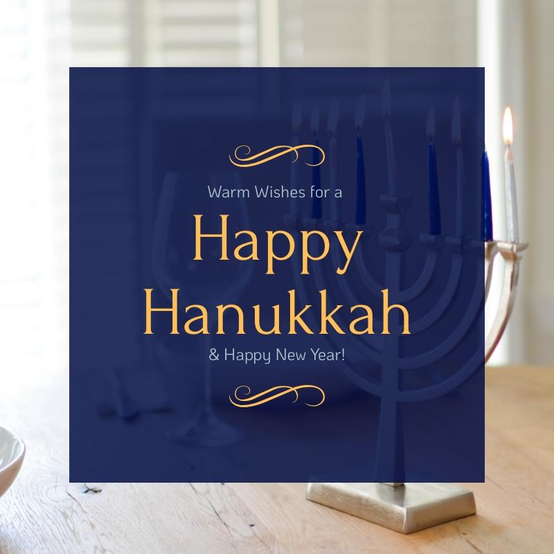 Warm Wishes Hanukkah Blog Graphic Medium  Template