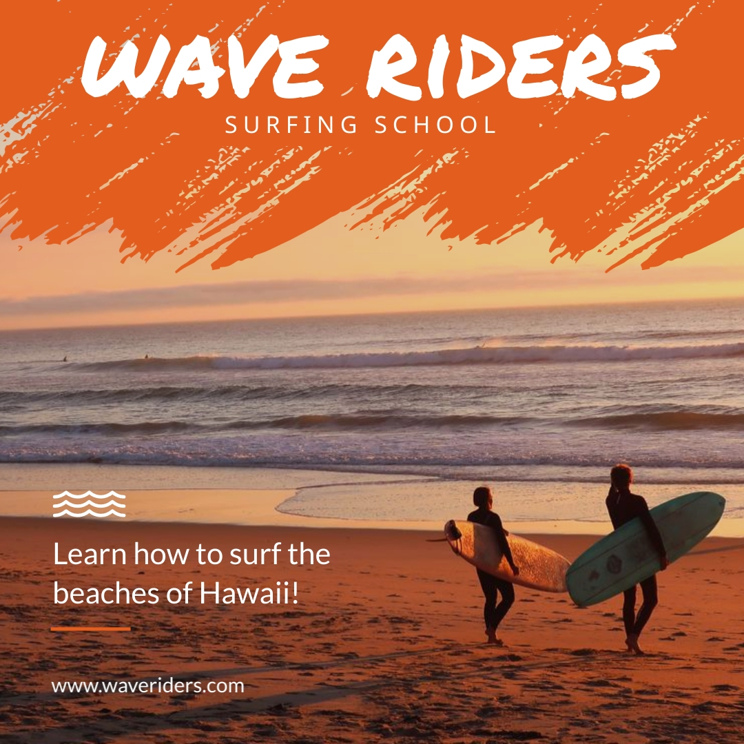 Wave Riders Animated Square Template