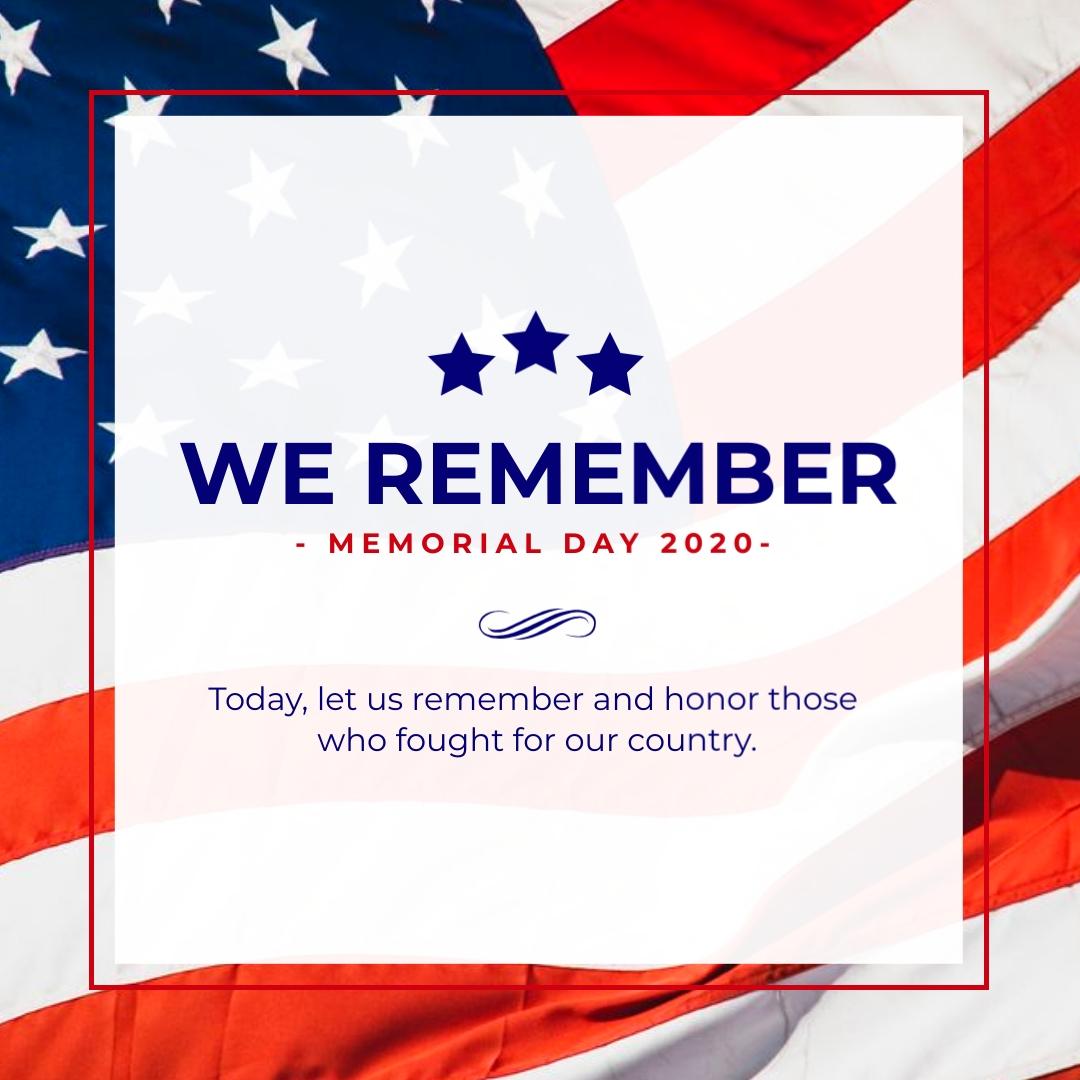 We Remember Memorial Animated Square Template
