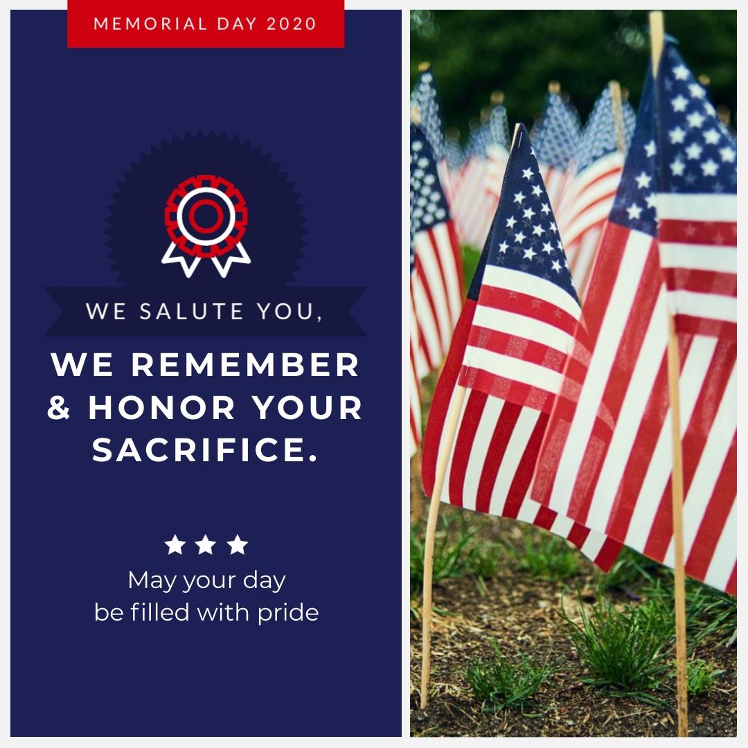 We Salute You Memorial - Instagram Post Template