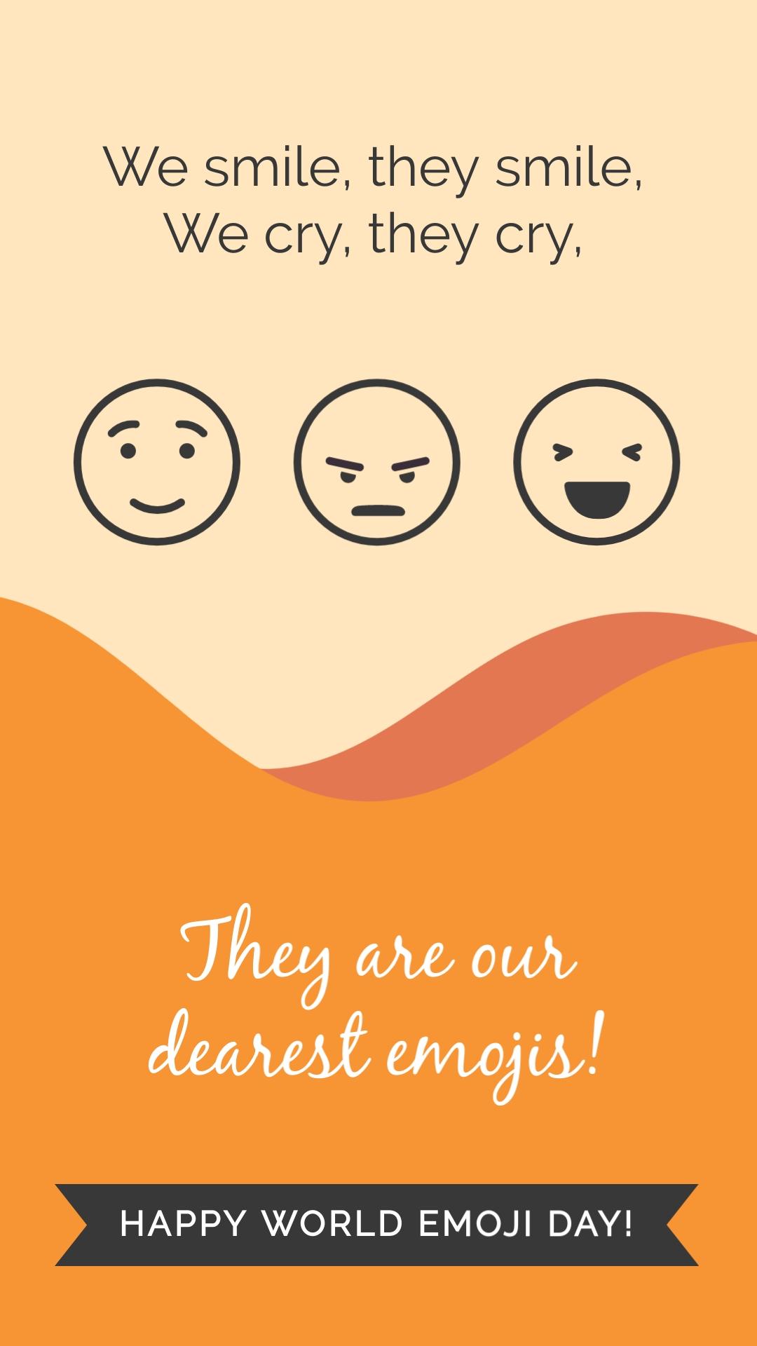 We Smile Emoji Animated Vertical Template