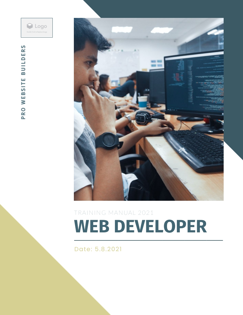 Web Developer - Training Manual Template