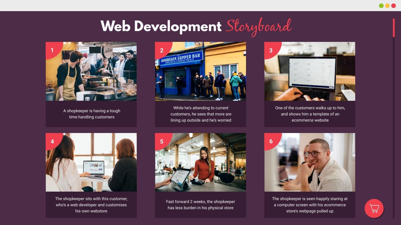 Web Development Storyboard Template