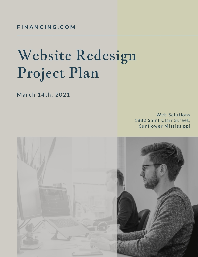 Website Redesign - Project Plan Template
