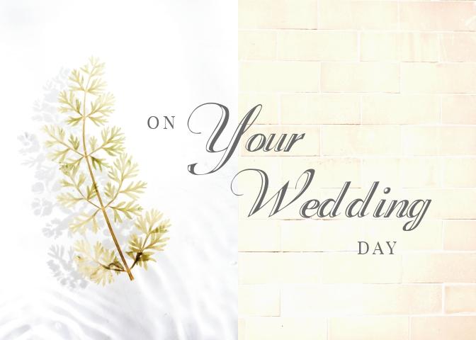 Wedding Greeting Card Template
