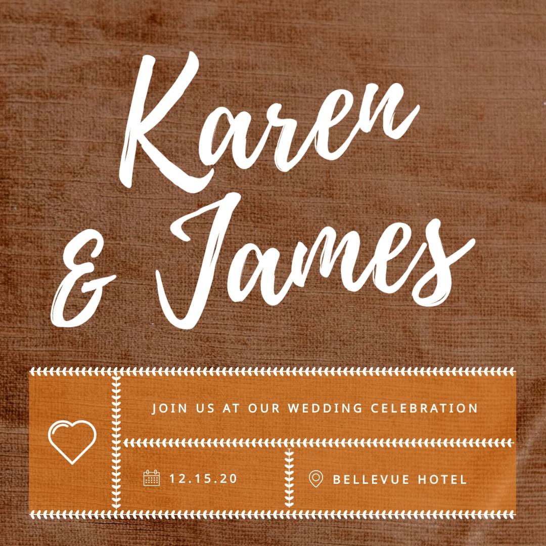 Wedding Invitation - Instagram Post Template