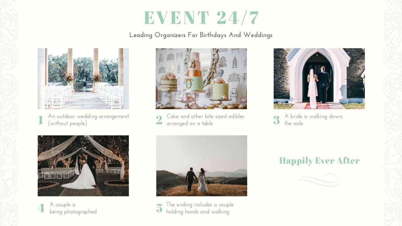 Wedding Planner Storyboard Template