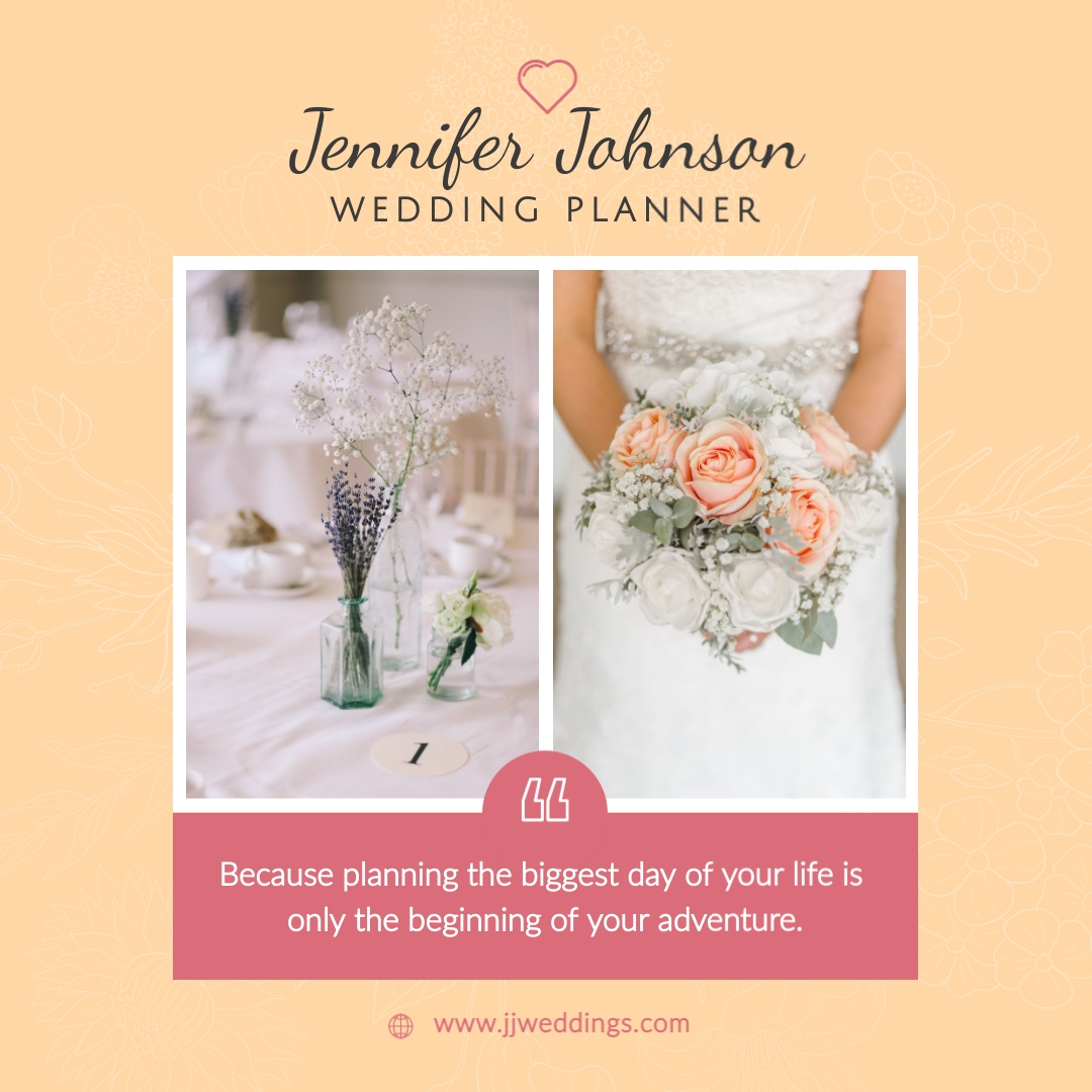 Wedding Planning Services Animated Square Template