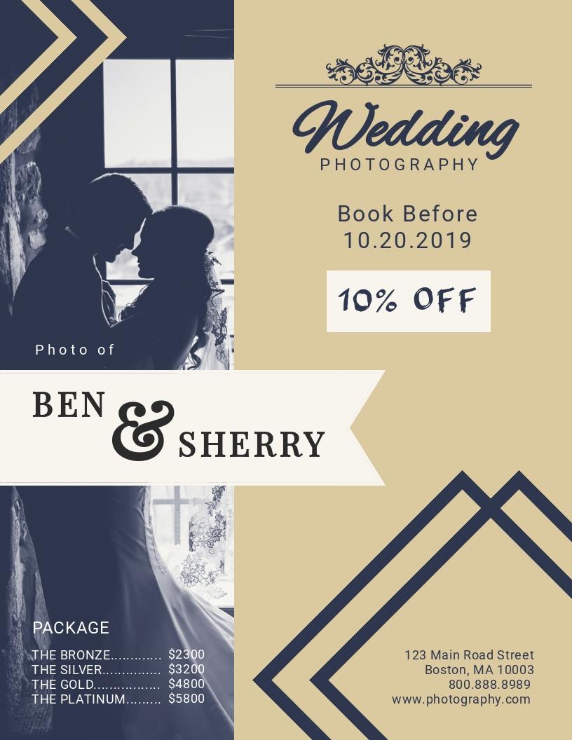 Wedding Pamphlet Template from assets.visme.co