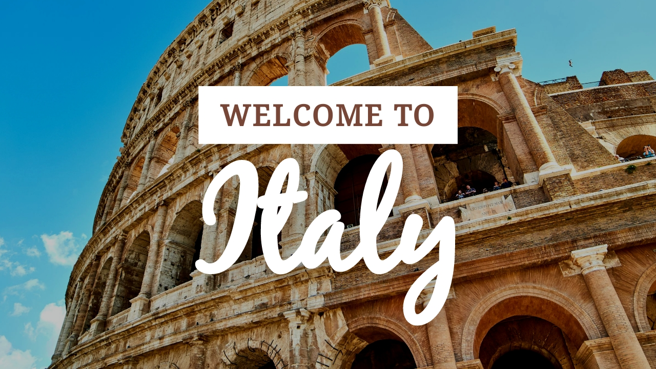 Welcome to Italy Youtube Thumbnail Template