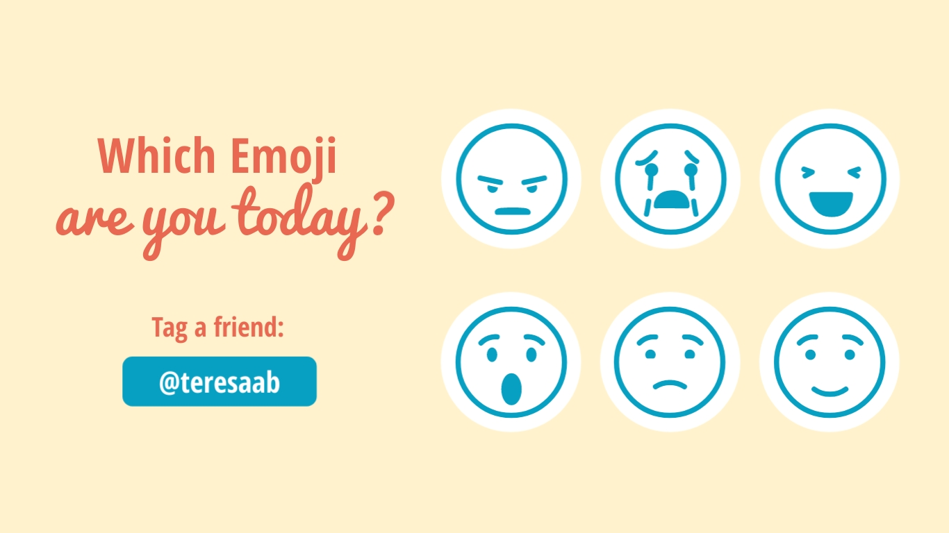 Which Emoji Are You Animated Wide Template