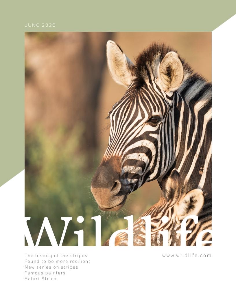 Wildlife - Magazine Cover Template