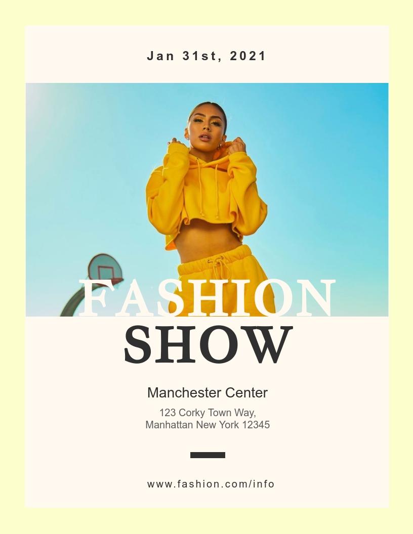 Winter Fashion Show - Event Program Template