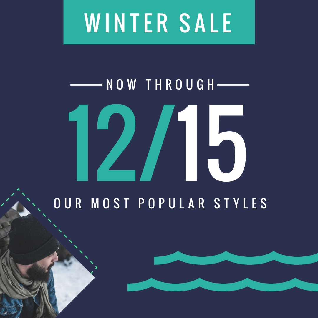 Winter Sale Bite-Sized Ad Square Template