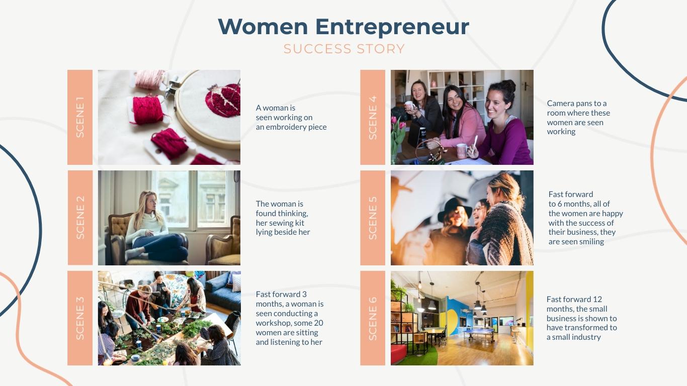 Women Entrepreneur Success Story Template