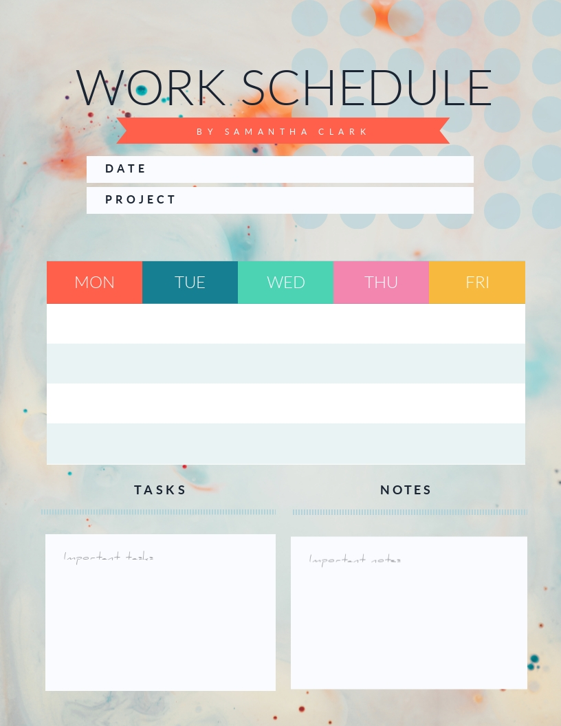 Work - Schedule Template