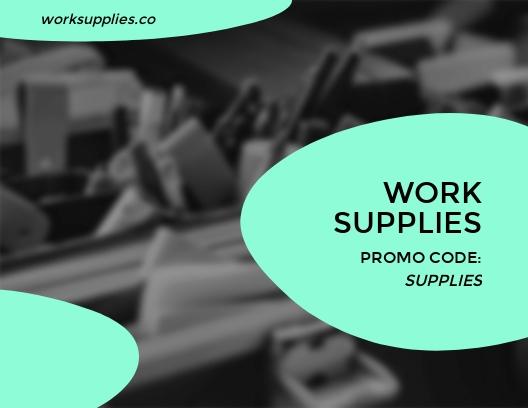 Work Supplies - Postcard Template