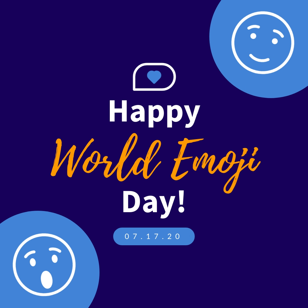 World Emoji Day Blue Animated Squared Template
