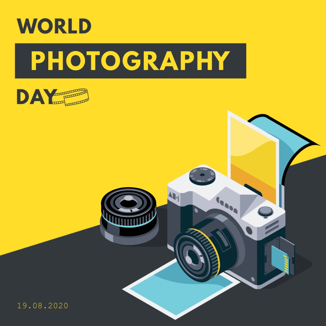 World Photography Day Animated Square Template