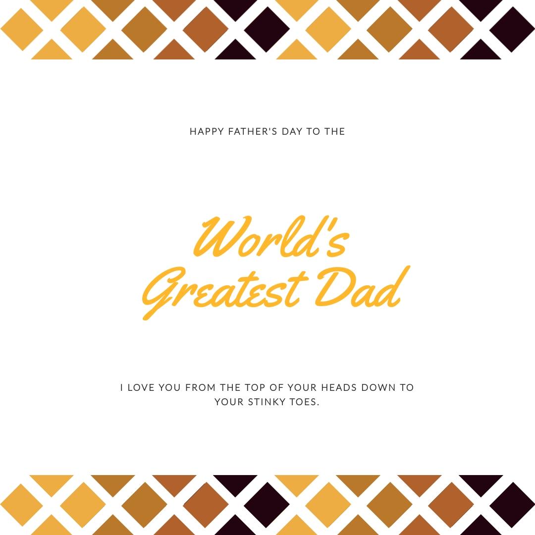 Worlds Greatest Dad Instagram Post Template