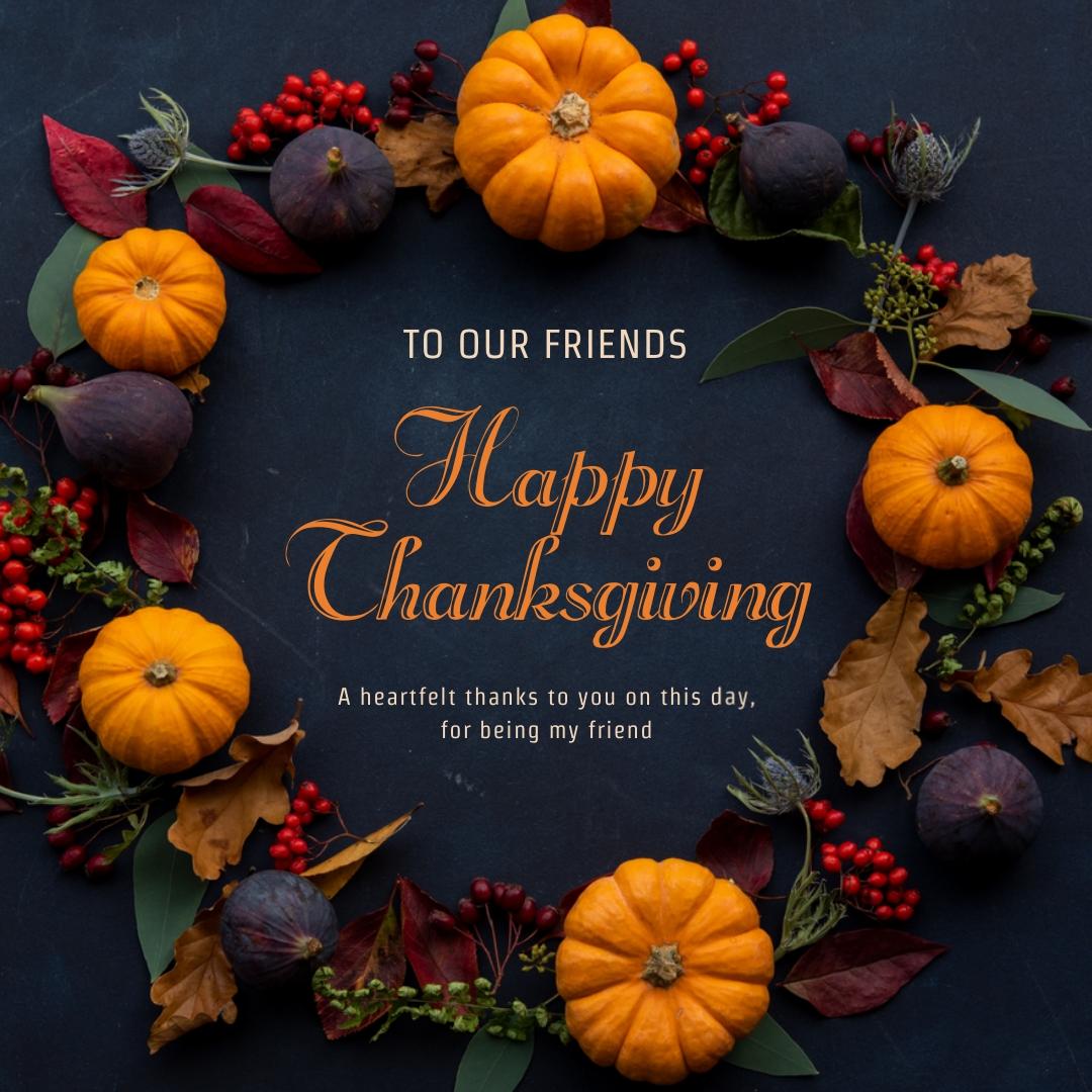Wreath Thanksgiving Instagram Post Template