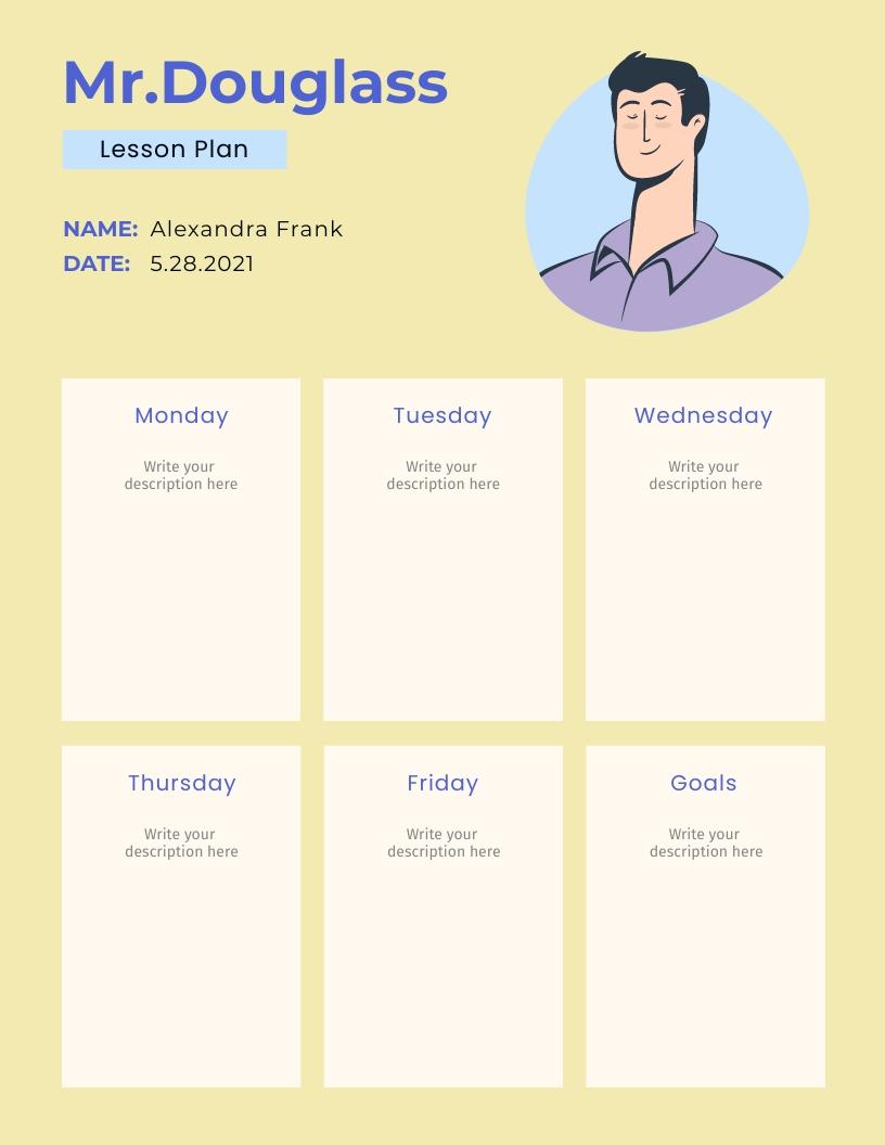 Yellow Tone - Lesson Plan Template