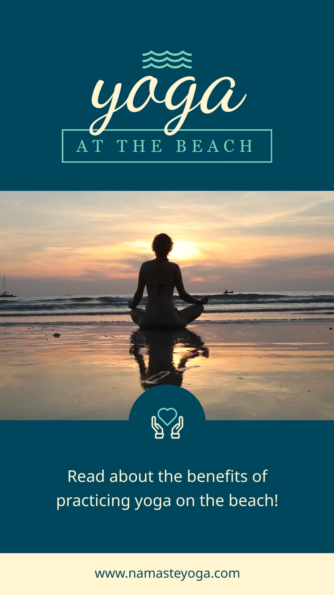 Yoga Beach Pinterest Video Pin Template