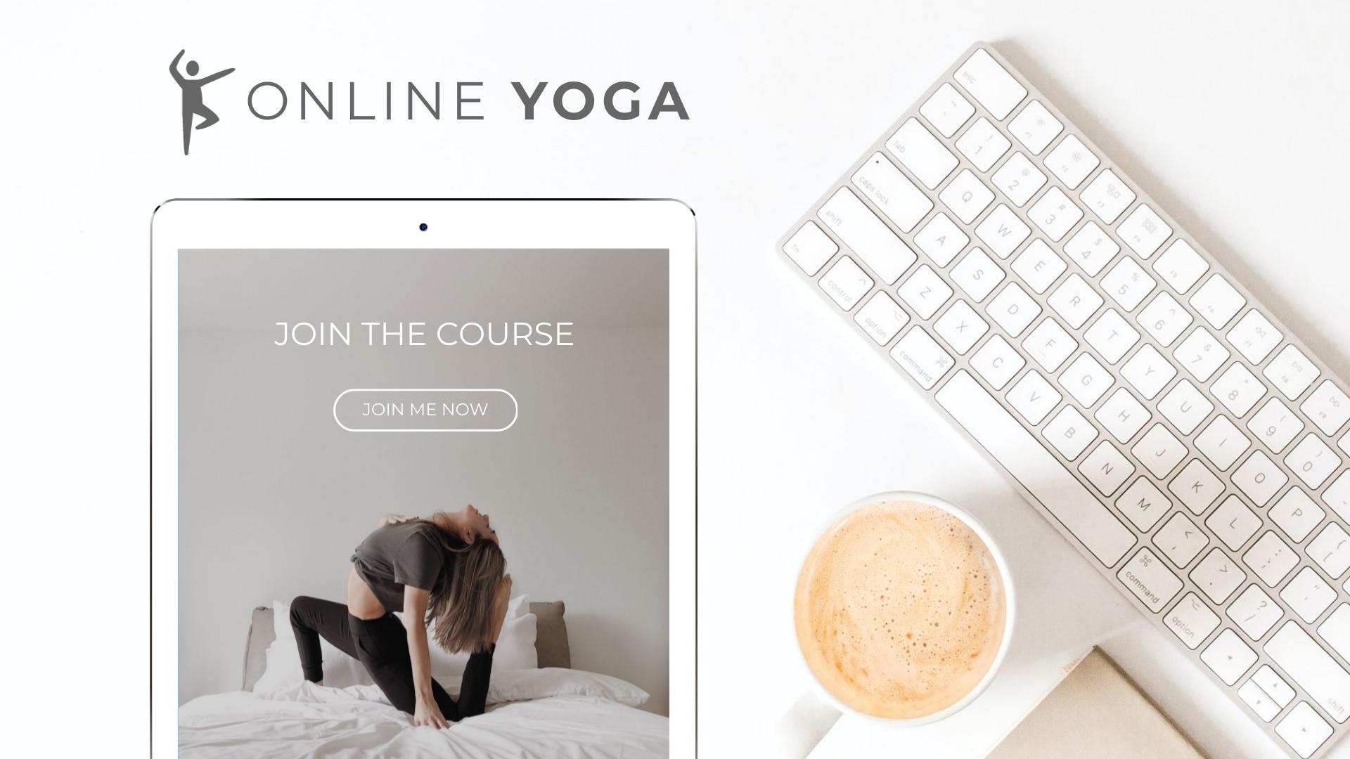 Yoga Course Mockup Wide Template