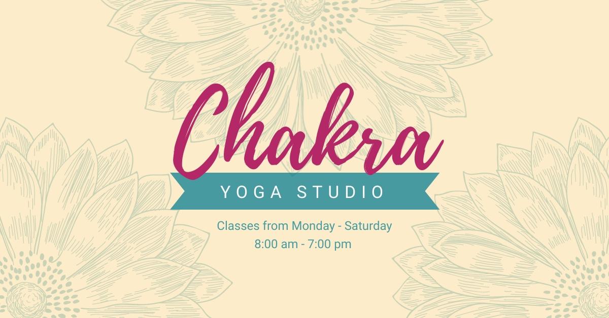 Yoga Studio Facebook Ad  Template